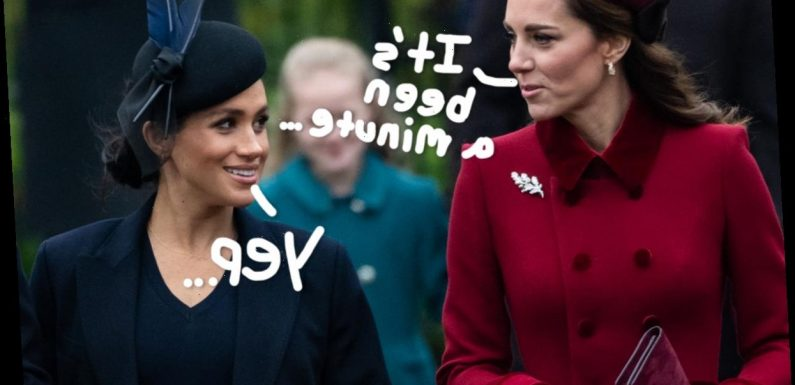 Here's Why Kate Middleton & Meghan Markle Reportedly Haven't Communicated 'Directly In Over A Year'
