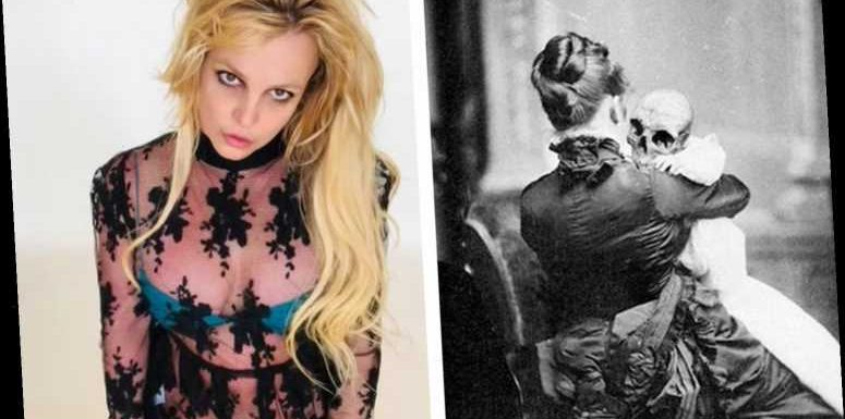 Britney Spears fans worried about pop star as she posts 'creepy' photo of a Victorian woman holding a baby's skeleton