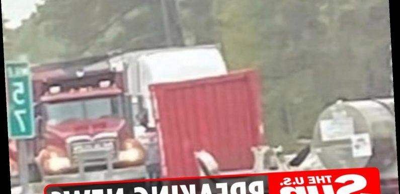 Truck carrying radioactive uranium compound crashes on I-95 in Cumberland sparking evacuation