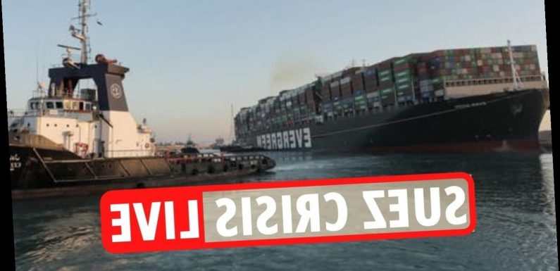 Suez Canal crisis LIVE – Ever Given ship 'partly refloated' but 130,000 animals still trapped and BILLIONS lost each day
