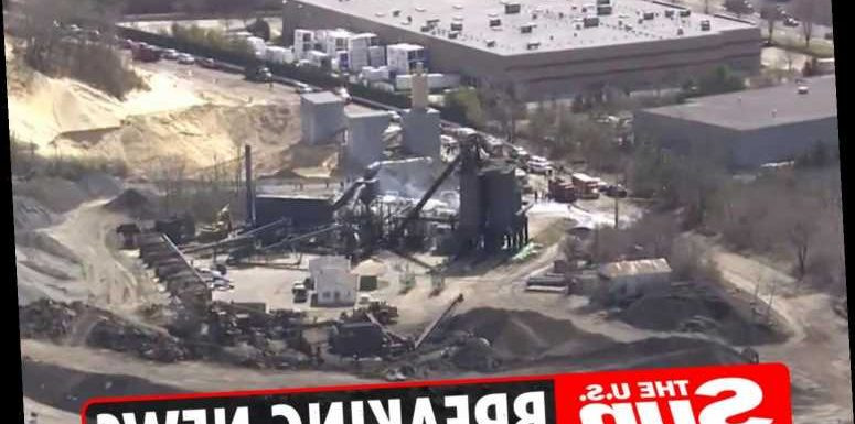 Melville fire: Tanker filled with chemicals EXPLODES and covers New York facility with plume of black smoke