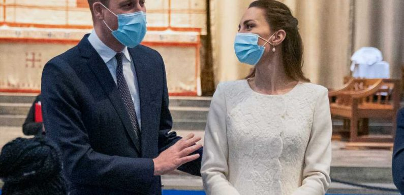 The Duke and Duchess of Cambridge Mark National Day of Reflection With Visit to Vaccination Center