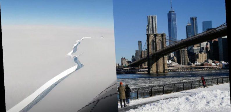 Massive iceberg– larger than New York City– breaks off in Antarctica