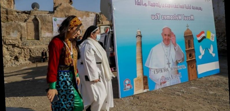Pope calls for peace from ruins of Iraq's war-battered Mosul