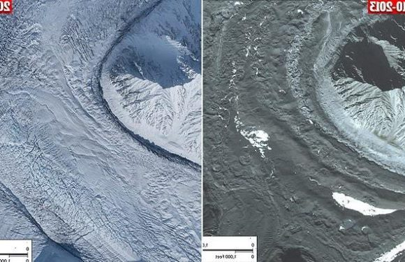 Alaskan glacier is moving 100 TIMES faster than normal