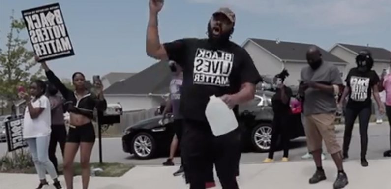 BLM protester outside home of soldier Jonathan Pentland says he's 'dying' of COVID