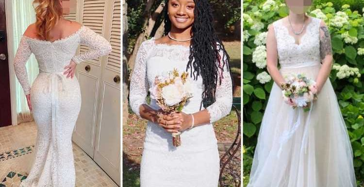 Brides rave over budget Amazon wedding dresses which are as cheap as £14