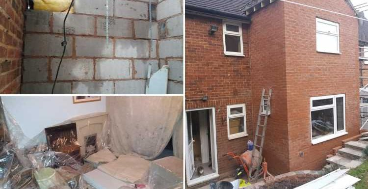 Cowboy builder leaves NHS worker with snow blowing into her living room after pocketing £17,000 for half-built extension