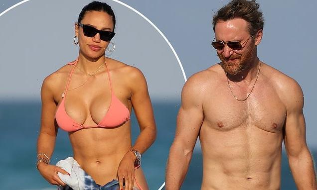 David Guetta goes shirtless on beach with bikini-clad girlfriend