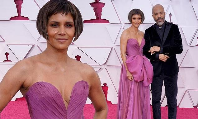 Halle Berry debuts her edgy new haircut at the 2021 Oscars