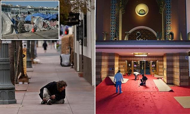 Homeless 'ordered out of LA's Union Station ahead of Academy Awards'
