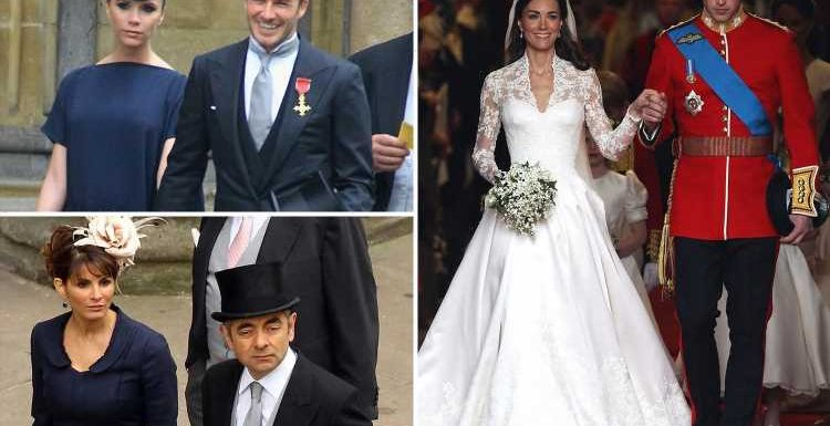 Inside Kate Middleton and Prince William's A-list packed wedding guests – and why Mr Bean made the cut