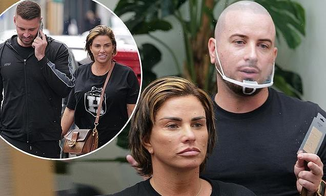Katie Price steps out with Carl Woods as she heads to hairdressers