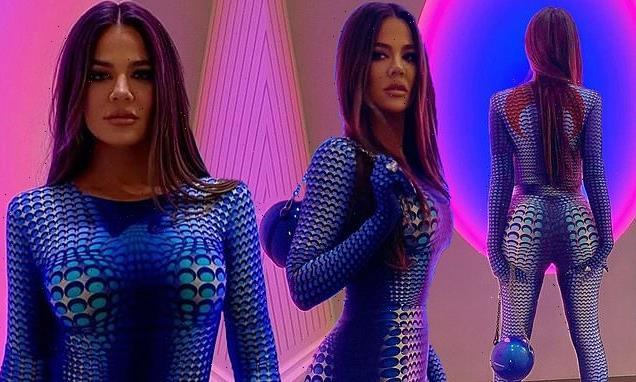 Khloe Kardashian lives out her 'avatar' fantasies in spandex jumpsuit