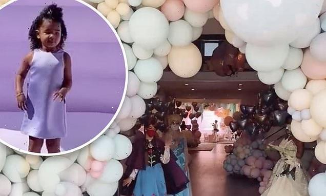 Khloe Kardashian's daughter turns three with lavish bash