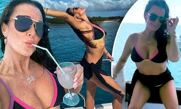 Kyle Richards, 52, shows off bikini body in Turks And Caicos