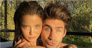 Maura Higgins and Chris Taylor post steamy hot tub snaps as he says 'I'm the reason we don't do photos'