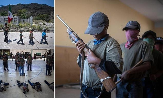 Mexico's child vigilantes are trained to use guns to fight drug gangs