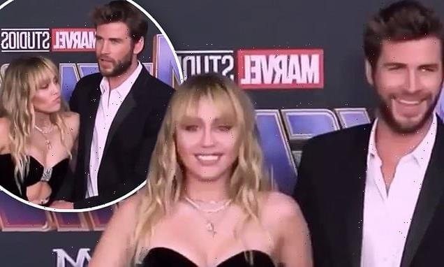 Miley Cyrus pushes Liam Hemsworth away from her in cringeworthy video