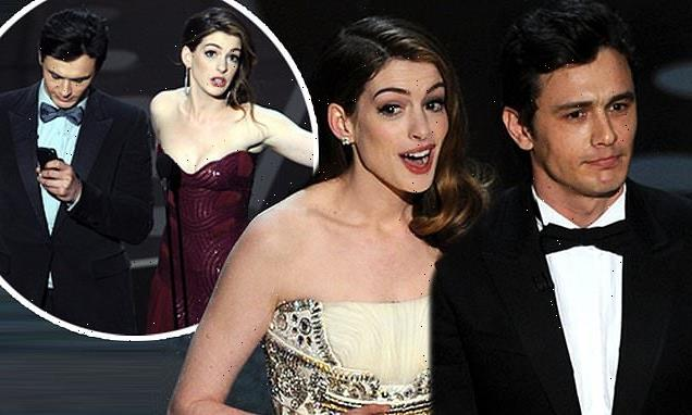 Oscar writers says it got awkward with James Franco and Anne Hathaway