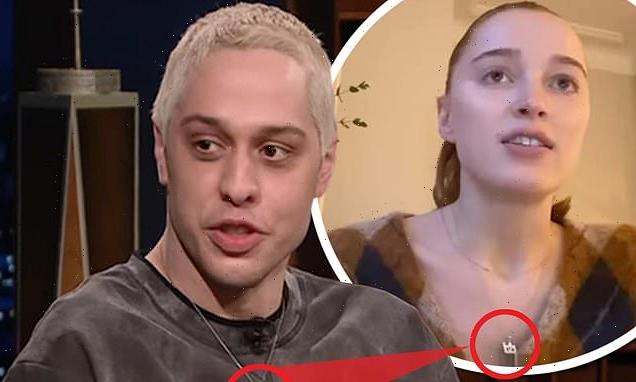 Phoebe Dynevor and Pete Davidson each seen wearing IDENTICAL necklaces