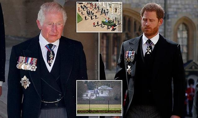 Prince Harry returns to Frogmore Cottage after Prince Philip funeral