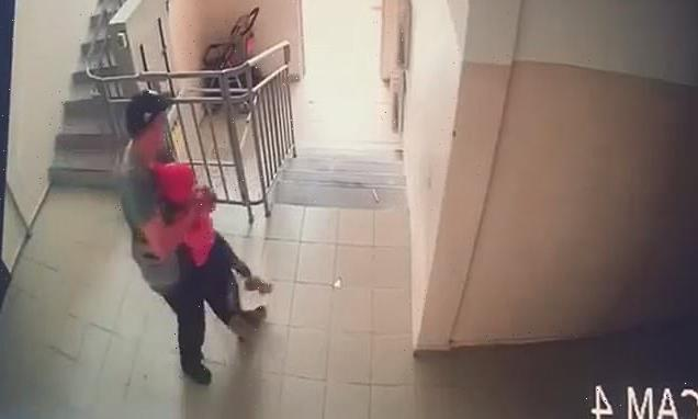 Terrifying moment Kazakh man grabs seven-year-old girl, assaults her