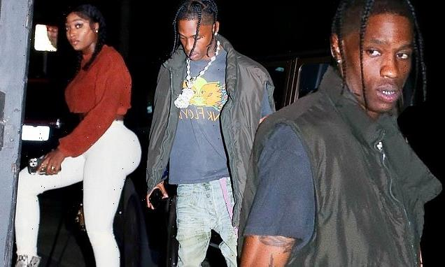 Travis Scott spotted with a mystery woman nearby on a night out in LA