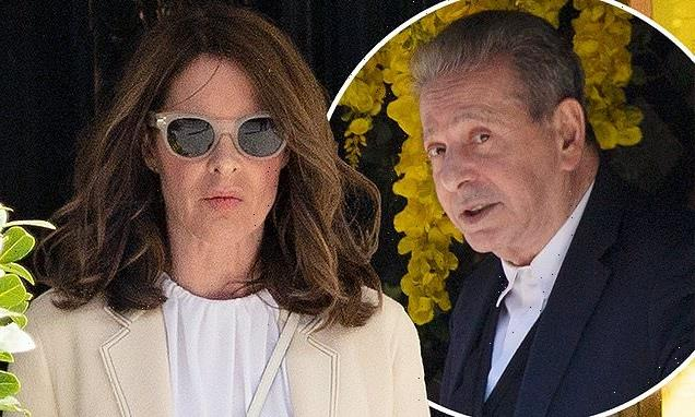 Trinny Woodall, 57, and Charles Saatchi,77, have lunch in Mayfair