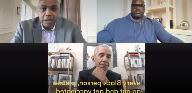 Watch Obama, Shaq, and Charles Barkley team up to combat Black vaccine hesitancy in new video