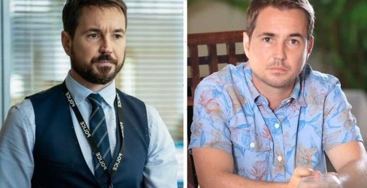When was Line of Duty's Martin Compston in Death in Paradise?