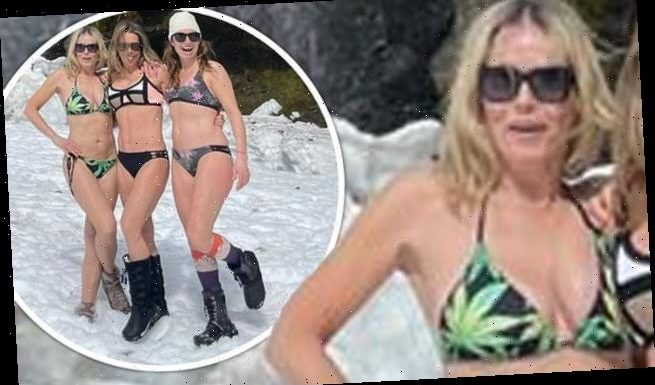 Chelsea Handler dons weed bikini in SNOW weeks after tearing meniscus