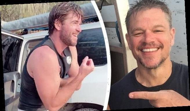 Matt Damon enjoys a holiday in Queensland with Liam Hemsworth