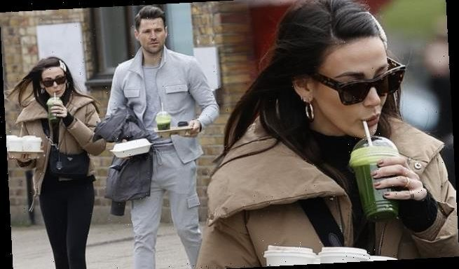 Michelle Keegan joins husband Mark Wright for a juice run