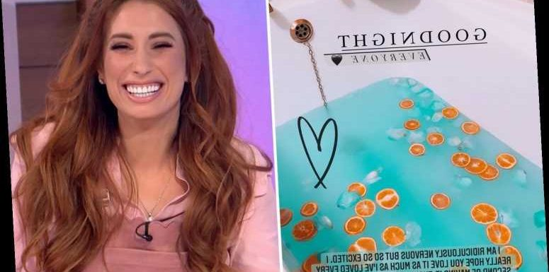 Stacey Solomon admits she's 'ridiculously nervous' as she celebrates six-figure fashion deal with 'thrush bath'