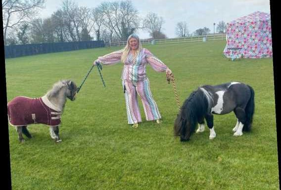 Gemma Collins says she's a 'horse mummy' as she poses with miniature ponies after blowout Easter feast
