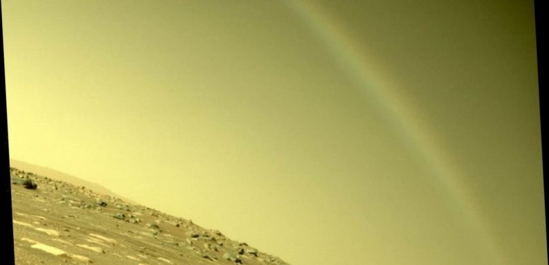 Mars 'rainbow' actually lens flare, NASA says