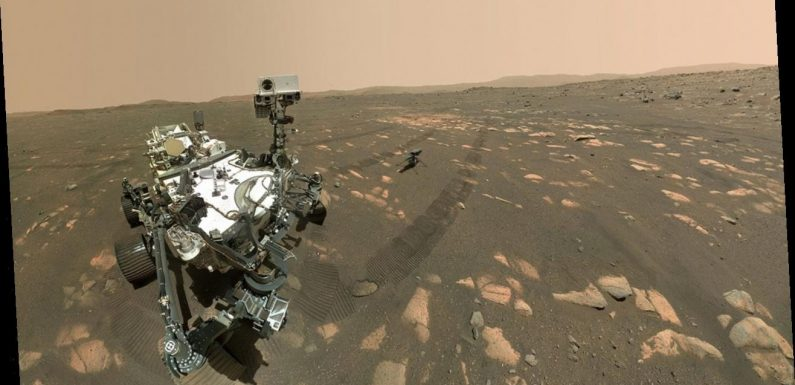 Mars Perseverance rover takes a selfie with Ingenuity helicopter ahead of historic flight