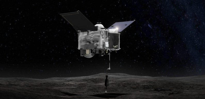 A NASA probe successfully collected 2 oz. of space rock from a distant asteroid and is blasting its way back to Earth