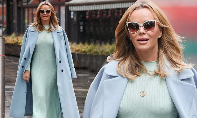Amanda Holden wows in chic mint green dress