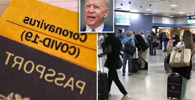 Americans may need vaccine passport to fly in and out of US as Biden admin says it is 'taking close look' requirement