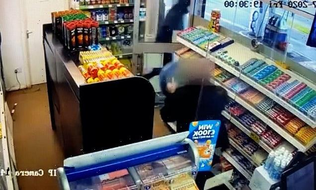 Armed robber chased out of shop by 'heroic' worker armed with a STOOL