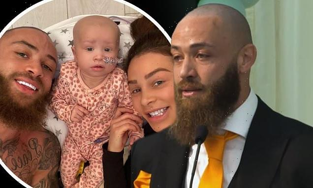 Ashley Cain shares emotional speech from daughter Azaylia's funeral