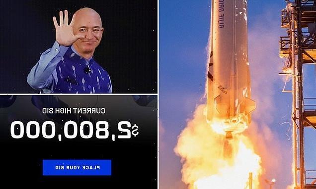 Bids to take a ride on Jeff Bezos' Blue Origin spacecraft approach $3M