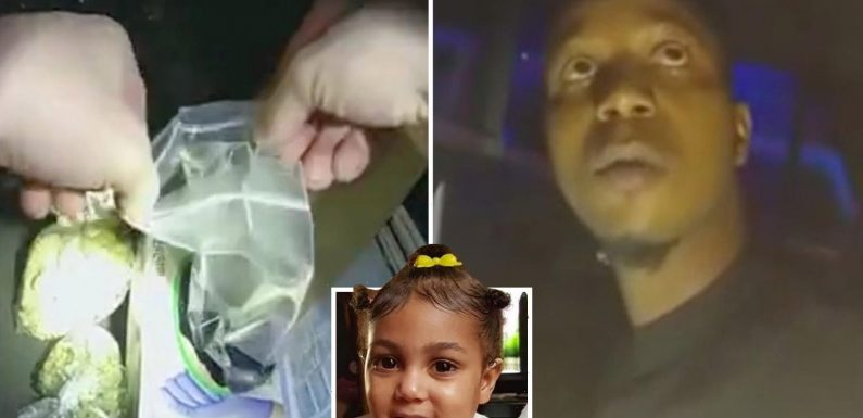 Bodycam vid shows cops mistake urn containing ashes of grieving dad's 2-year-old daughter with DRUGS in traffic stop