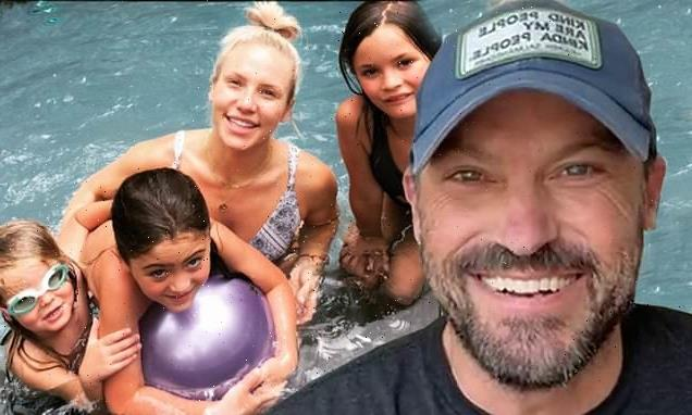 Brian Austin Green shares photo of Sharna Burgess with his three sons