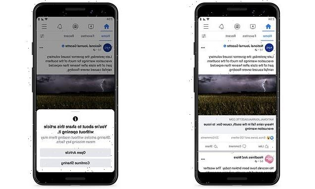 Facebook tests pop-up that asks people to read a link before sharing