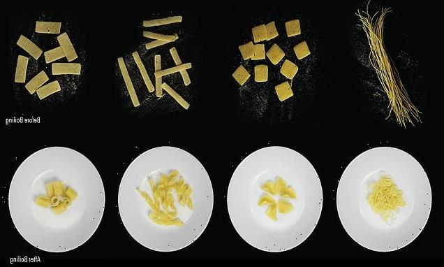 'Flat-pack pasta' morphs from 2D to 3D while cooking