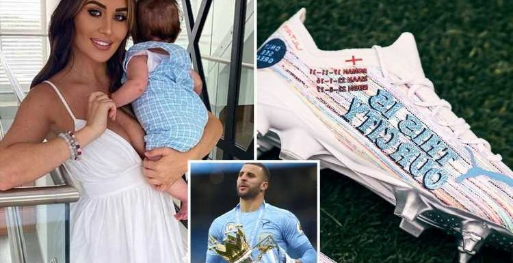 Footballer Kyle Walker slammed as he snubs lovechild with Lauryn Goodman from new football boots with children's names