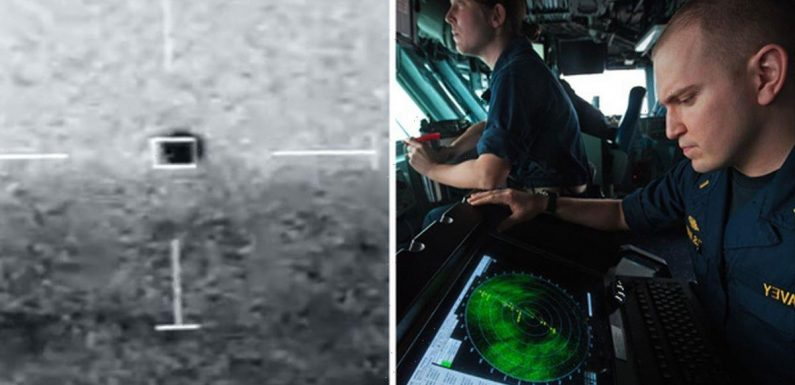 Incredible new US Navy footage captures 150mph UFO 'descending into water'